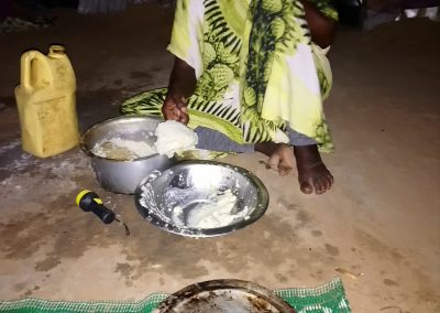 """Asha, Mogadishu: """"The lady is my neighbor. She fought with her husband, and I went there to stop him. He was beating her because of soup. He asked her what this maize meal without soup is, and she answered """"where I should bring soup from if you do not give me enough money?"""" He started beating her. This is very common. It is why I am divorced from my husband…It happens when he does not pay for the daily bread, and you start fighting with him, and then he fights back. We are beaten, we cannot win against him…The neighbours will come to mediate between them. Mediation is done verbally. For me, I was about to be killed by my husband and the issue was solved through mediation. The [brothers and elders] only say don`t beat her again, but after 4 months the same happens again. So, shall we just leave all the men alone? If he is stronger than you, how could you fight back? We were farmers, we were cultivating and harvesting bananas, we don`t know how to fight. On that other picture you see that she is okay now. I have solved the issue, and now he is served meal with milk."""""""