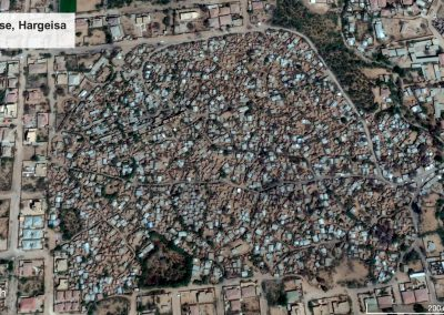 These satellite images show the rapid growth State House camp (Hargeisa) between 2002 and 2017. (Source: Google Earth)